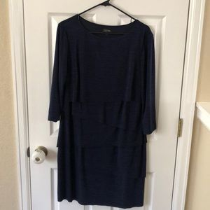 Navy Tahari Dress